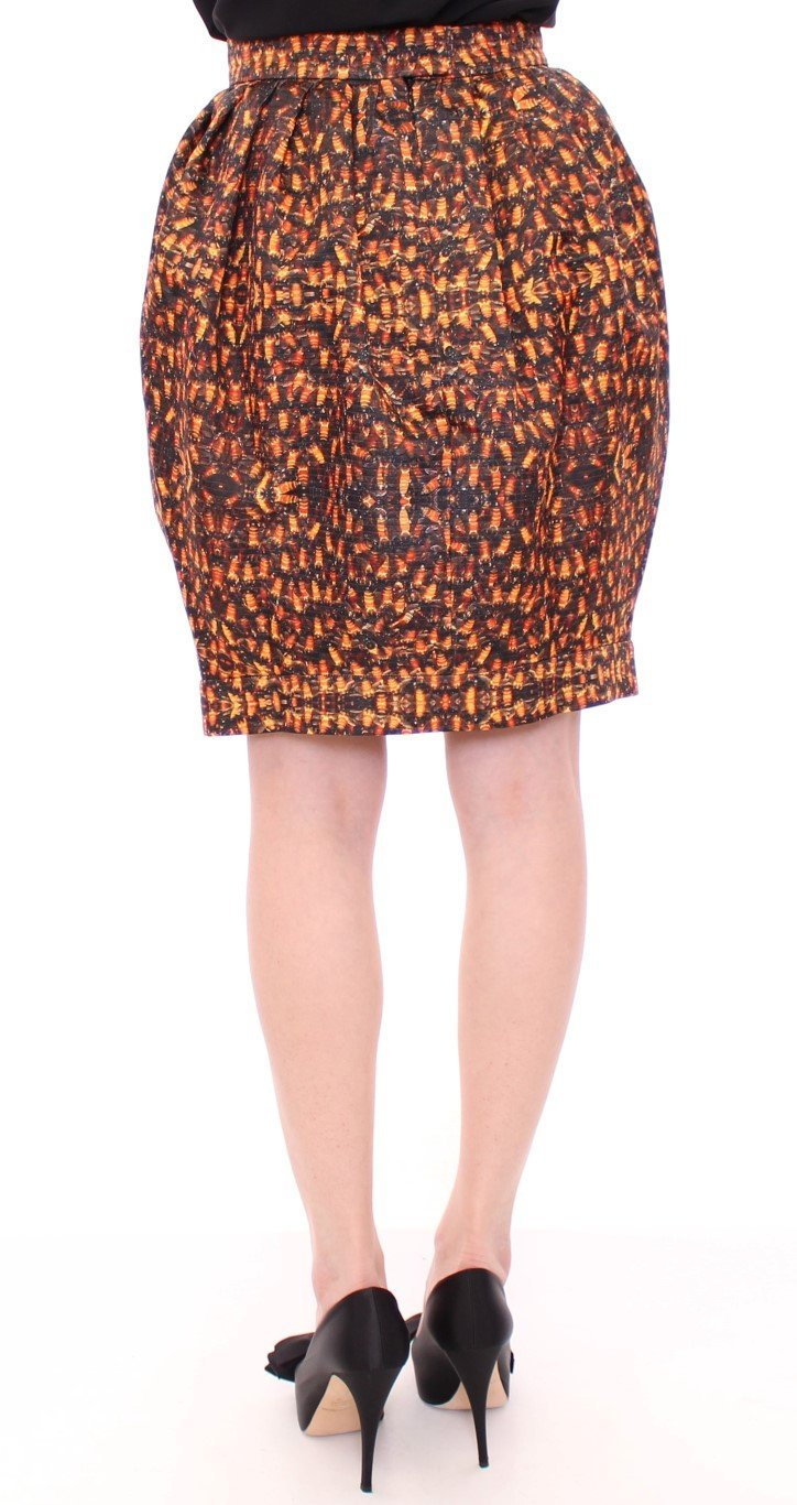 Bubble Baloon Bee Print Above Knee Skirt