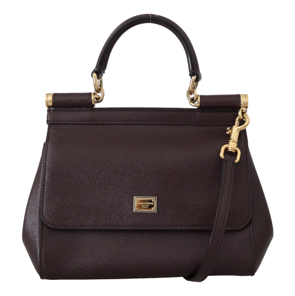Purple MISS SICILY Dauphine Leather Hand Shoulder