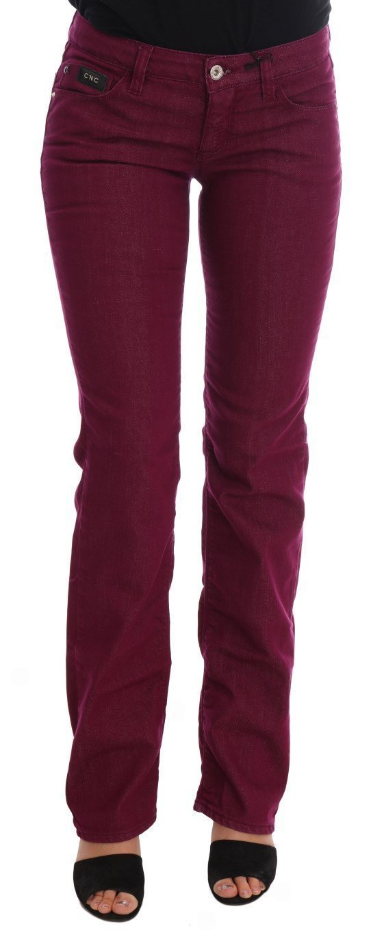 Red Wash Cotton Stretch Denim Jeans