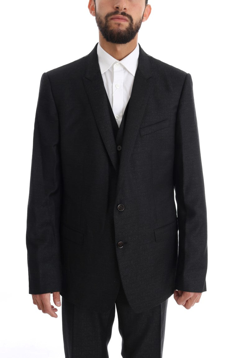 Gray Wool GOLD Slim Fit 3 Piece Suit