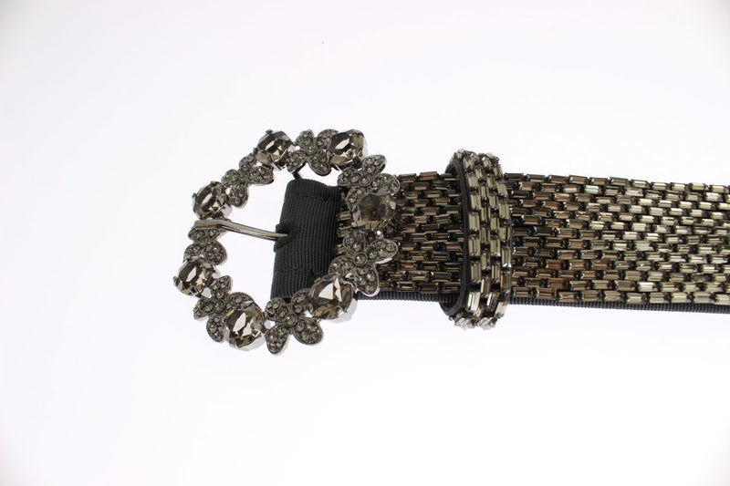Crystal Buckle Sequined Waist Belt