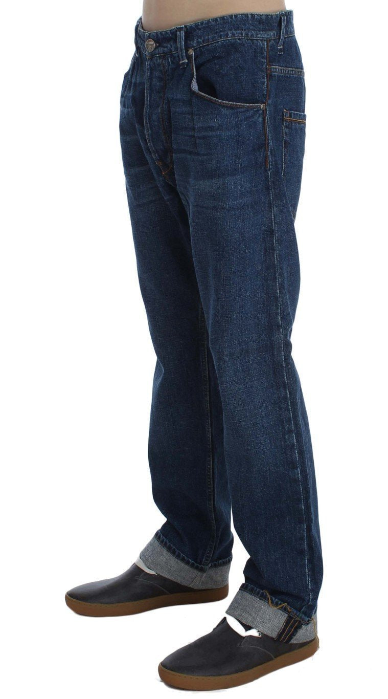 Blue Wash Cotton Baggy Loose Fit Jeans