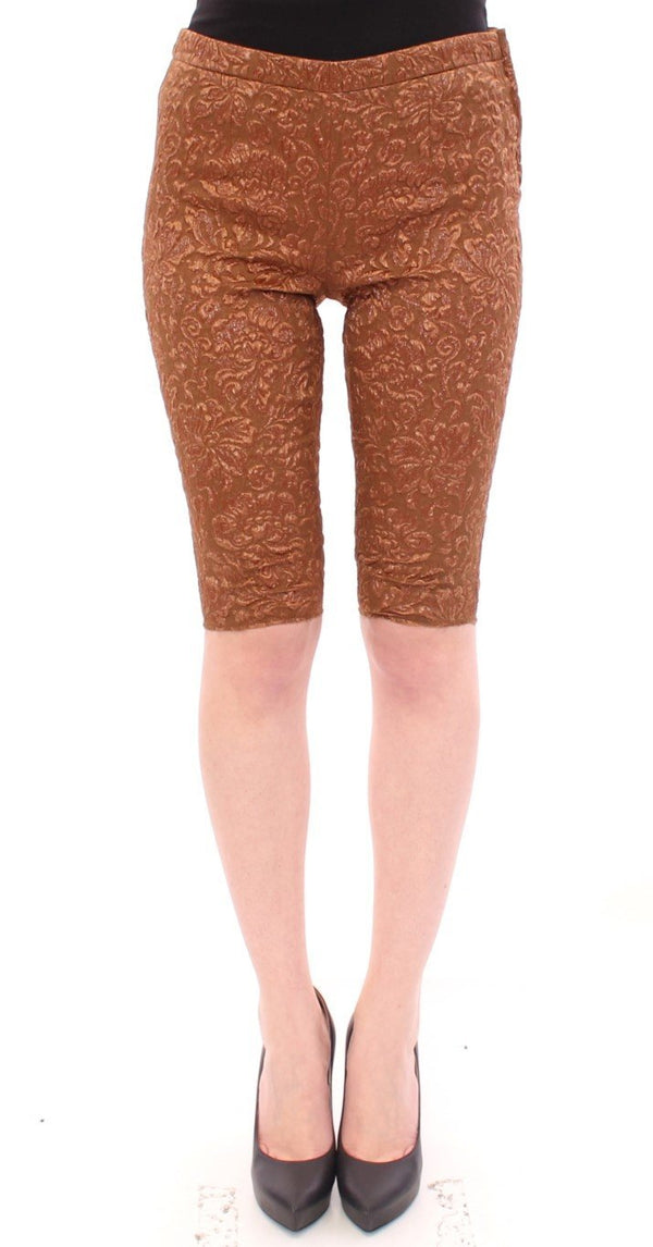 Brown silk shorts pants