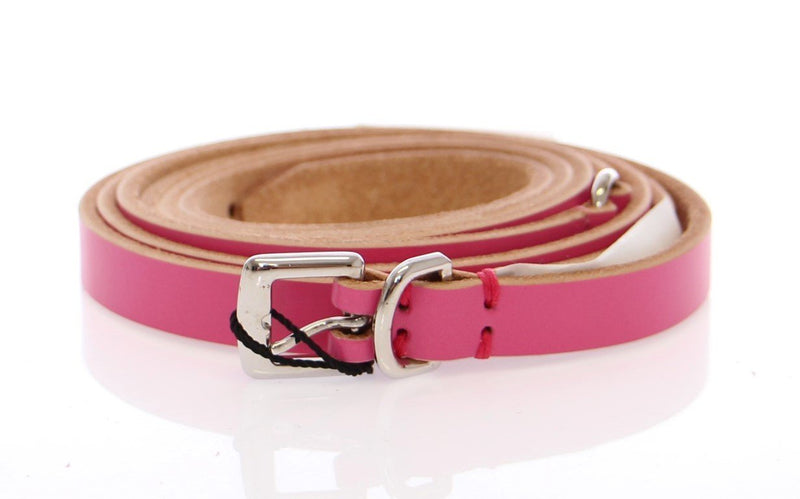 Pink Double Wrap Leather Logo Belt