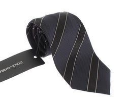 Blue Black Striped Tie
