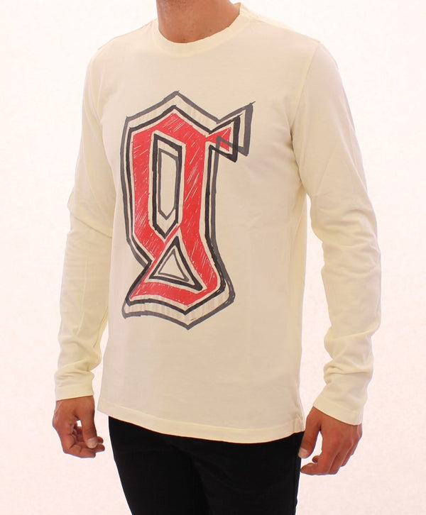 Beige crewneck long sleeve t-shirt