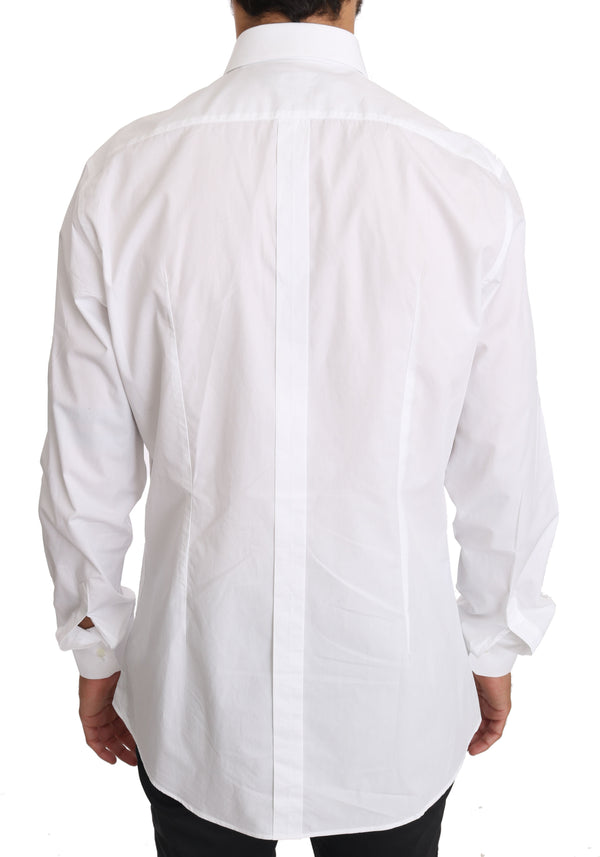 White Cotton GOLD Dress Shirt