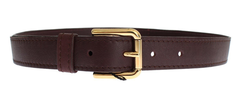 Purple leather belt