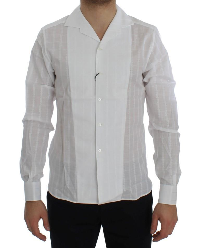 White Square Check Cotton Shirt