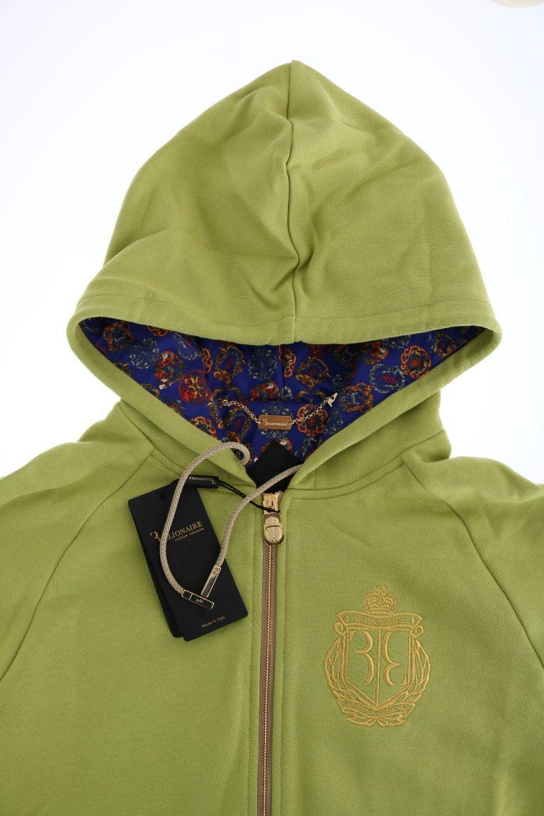 Green Cotton Hooded Sweatsuit
