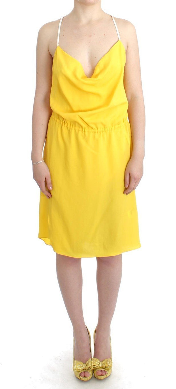 Yellow sleeveless summer dress