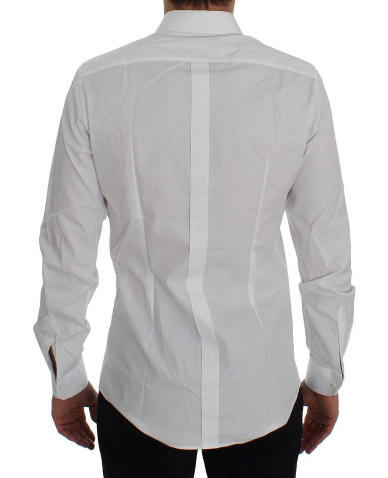 White Cotton Slim Fit GOLD Shirt