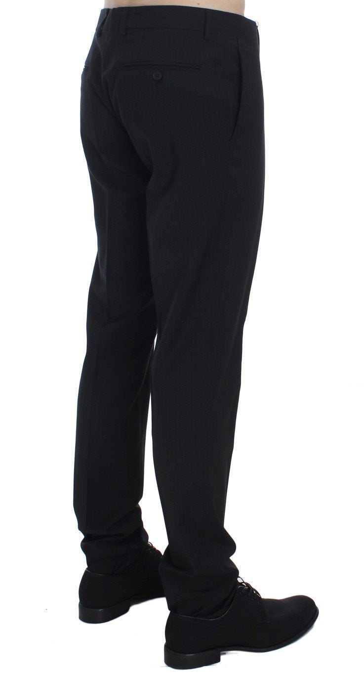 Black Striped Dress Formal Pants