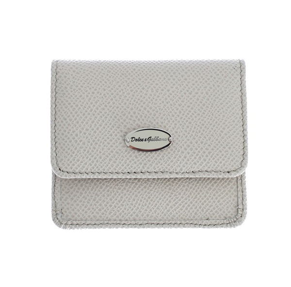White Dauphine Leather Case Wallet