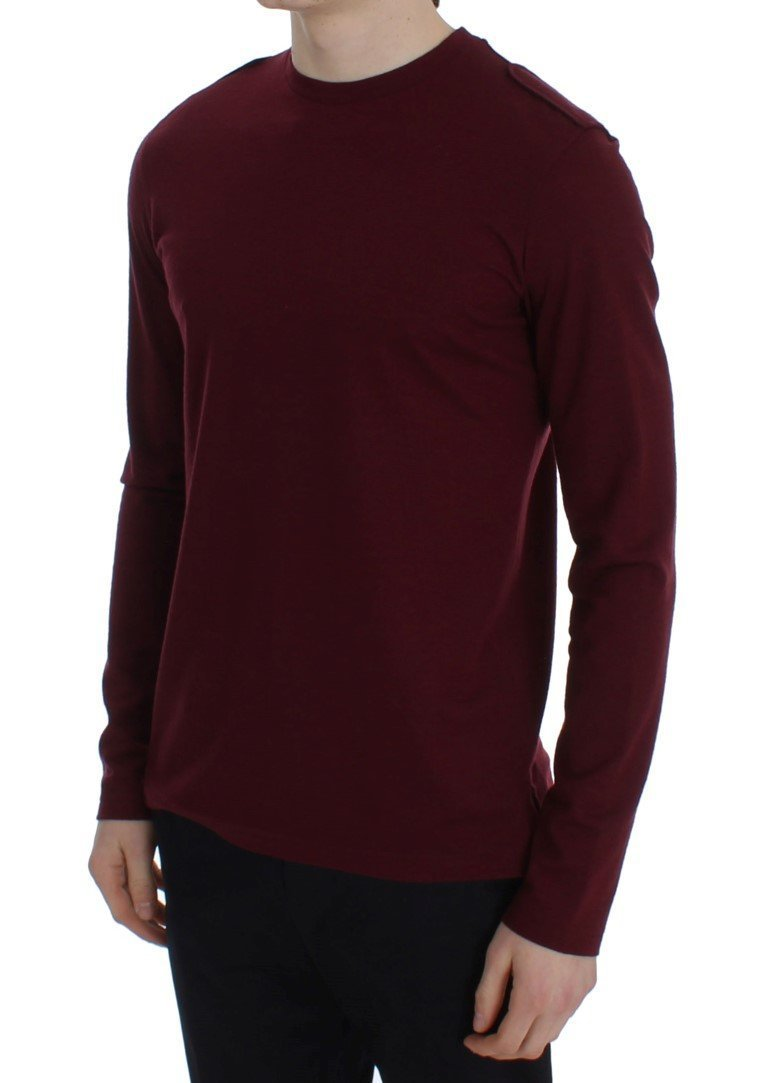Bordeaux Wool Crewneck Sweater