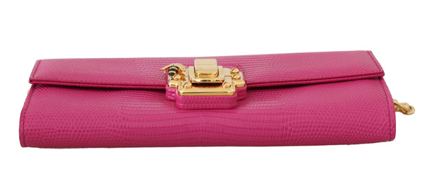 Pink Leather LUCIA Clutch Shoulder Purse