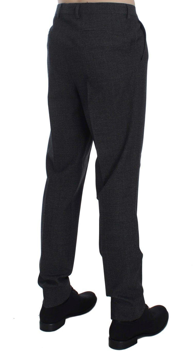 Gray Wool Cotton Dress Formal Pants