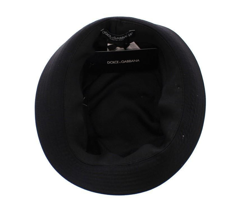 Black Cotton Logo Fedora Trilby Hat