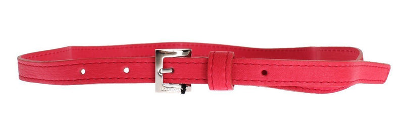 Pink leather belt