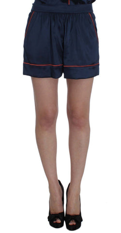 Blue Silk Stretch Sleepwear Shorts