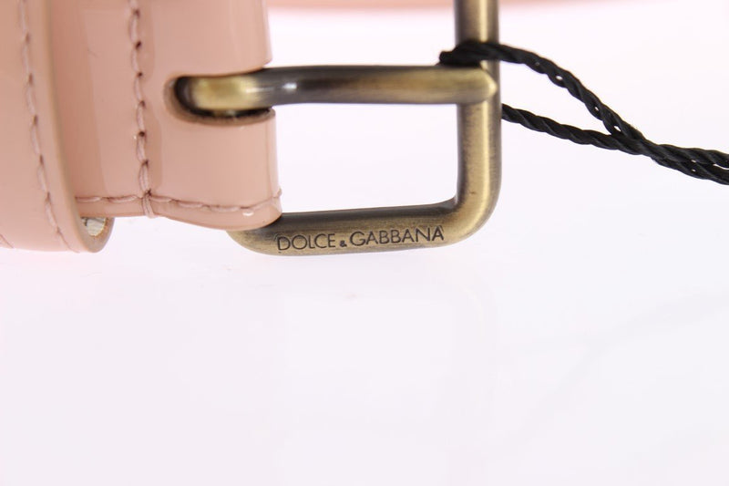 Pink Patent Leather Gold Belt