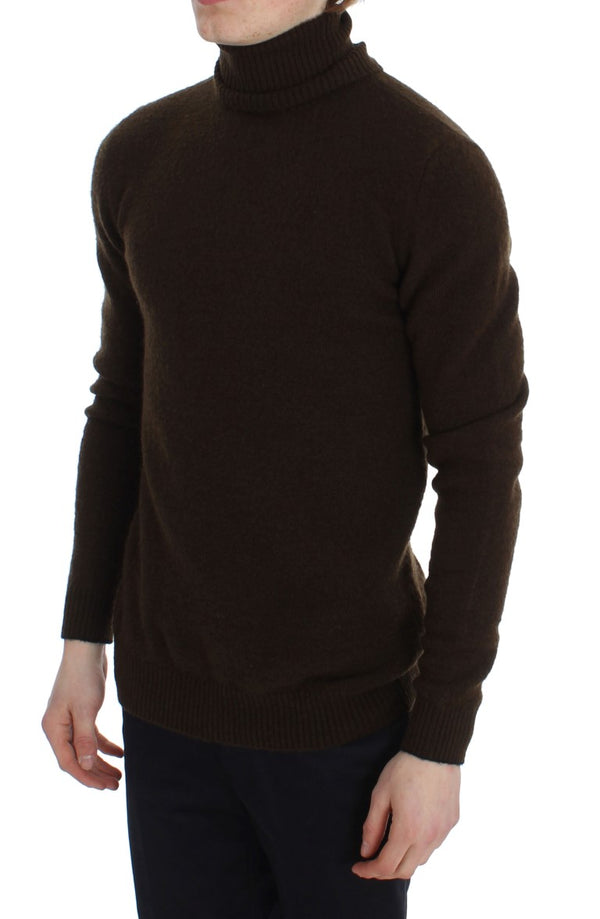 Brown Turtleneck Pullover Sweater