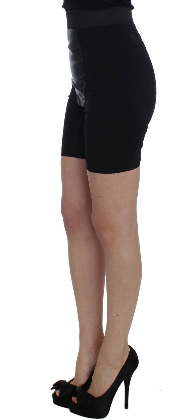 Black Stretch High Waist Mini Shorts