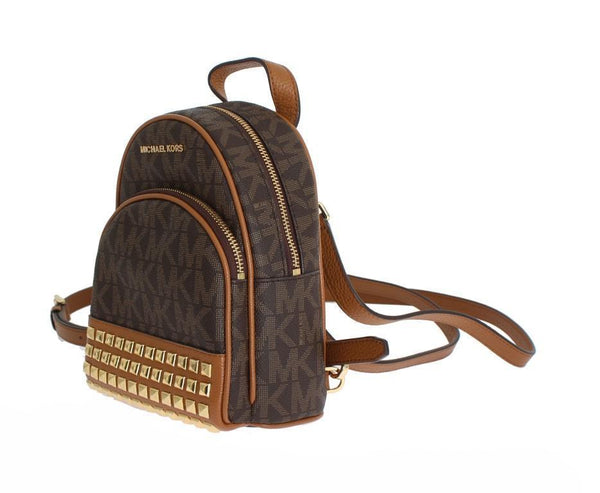Brown ABBEY Leather XS Backpack