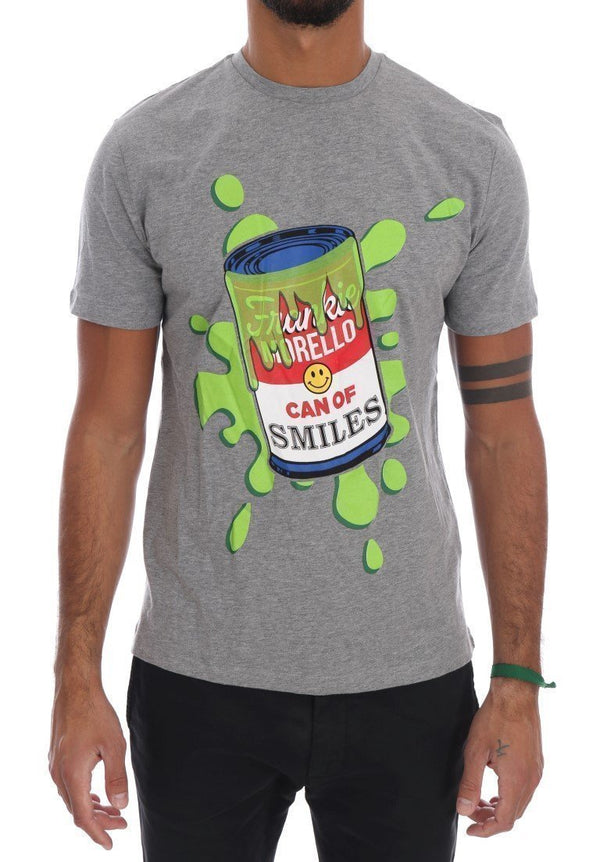 Gray Cotton Can Of Smiles T-Shirt