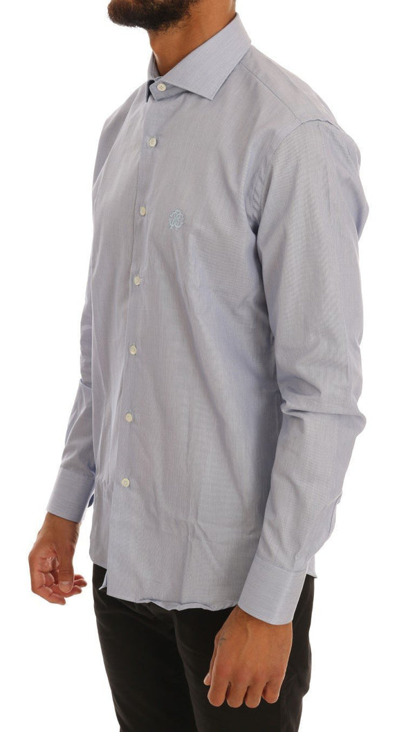 Light Blue Cotton Slim Fit Dress Shirt