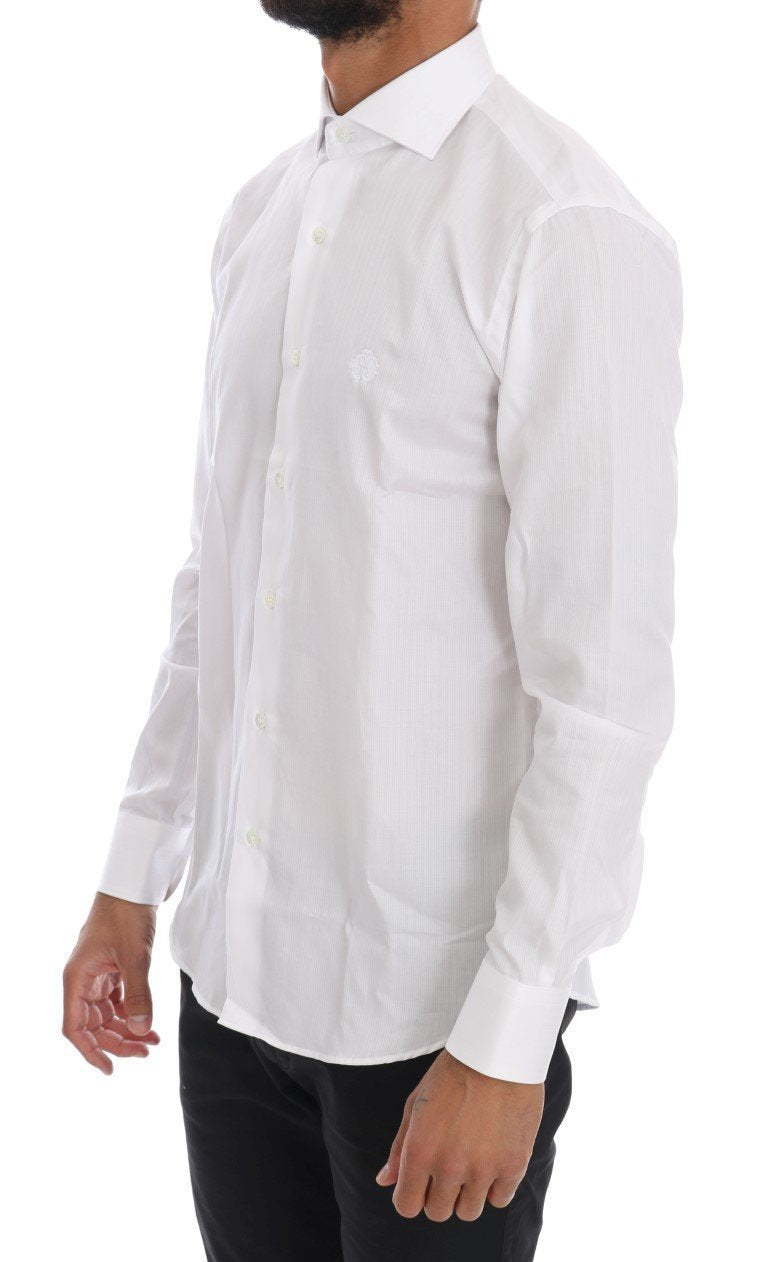White Striped Slim Fit Shirt