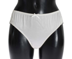 White Satin Stretch Underwear Panties