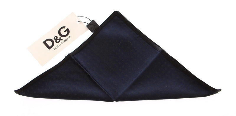 Blue Star Silk Handkerchief