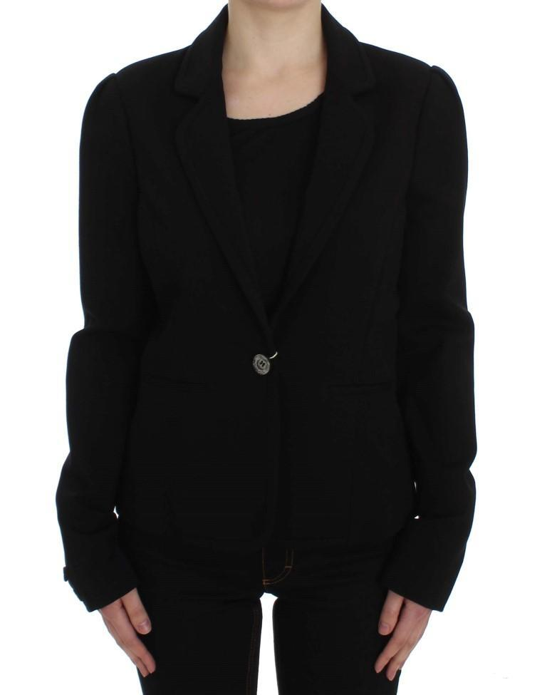 Black Stretch Blazer Jacket