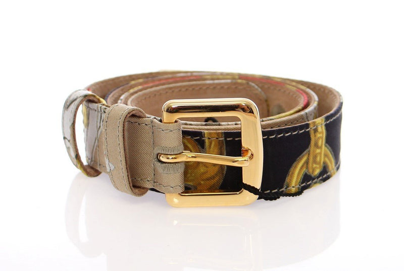Multicolor Silk Logo Belt