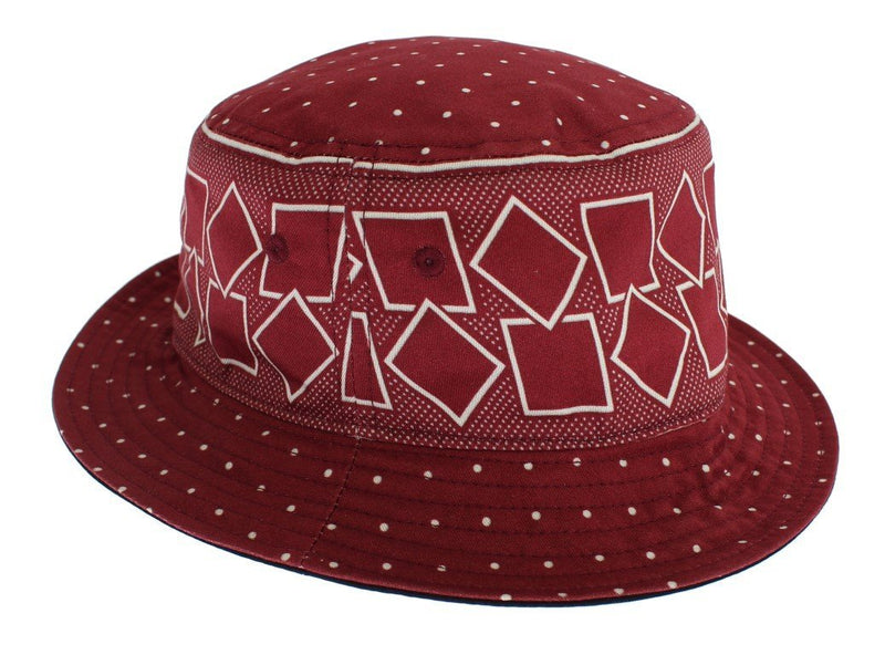 Red Cotton Silk Sun Hat