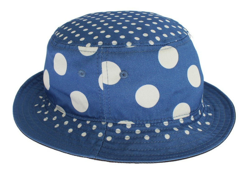 Blue Polka Cotton Silk Sun Hat