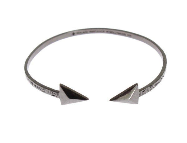 Arrow Black 925 Silver Bangle Bracelet