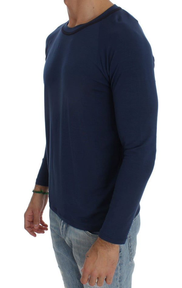 Blue Modal Stretch Sweater