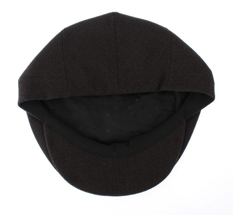 Brown Wool Newsboy Cap