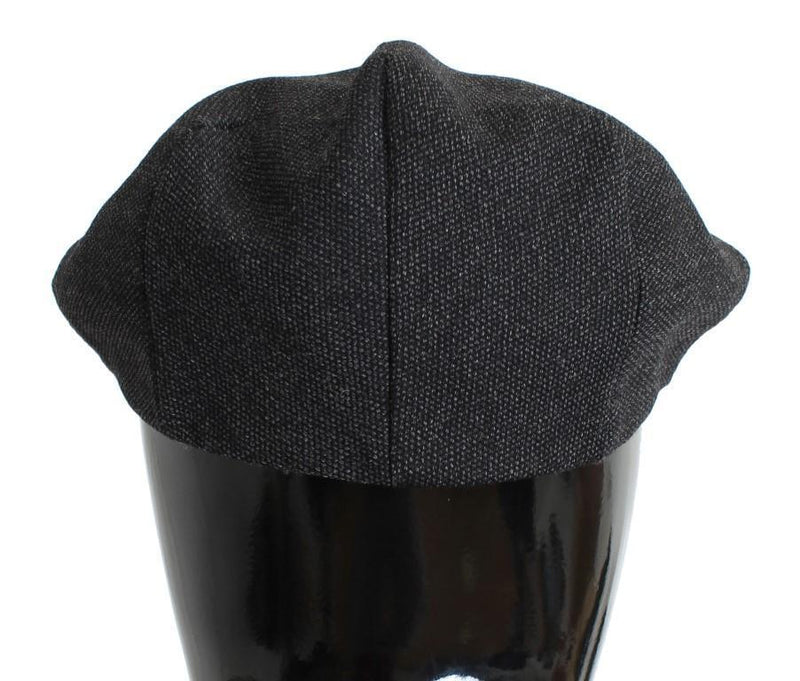 Gray Wool Newsboy Cap