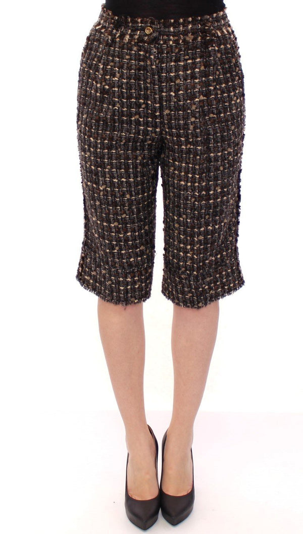Multicolor wool shorts pants