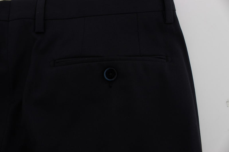 Blue Wool Formal Dress Pants