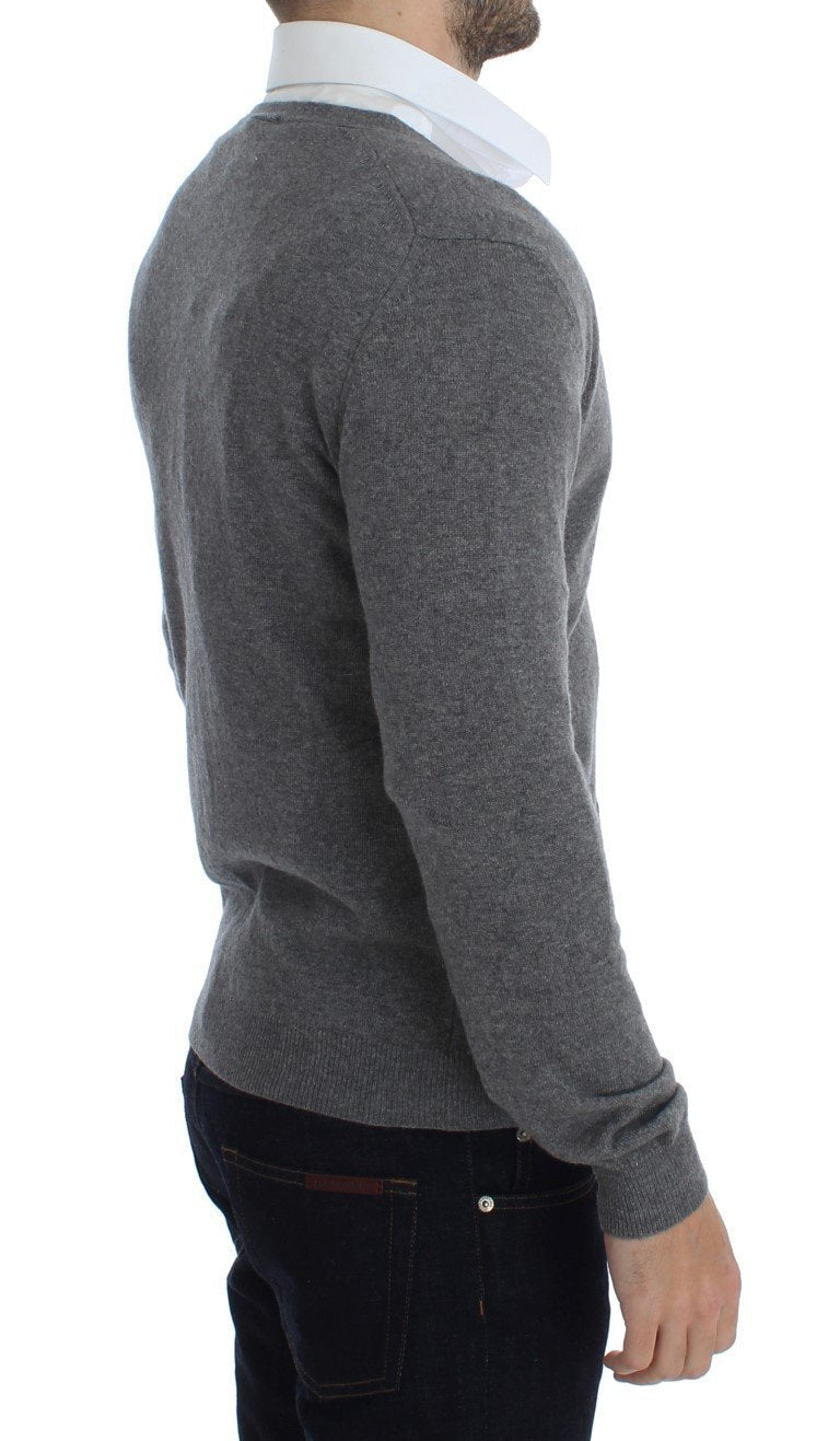 Gray Wool Cashmere Cardigan