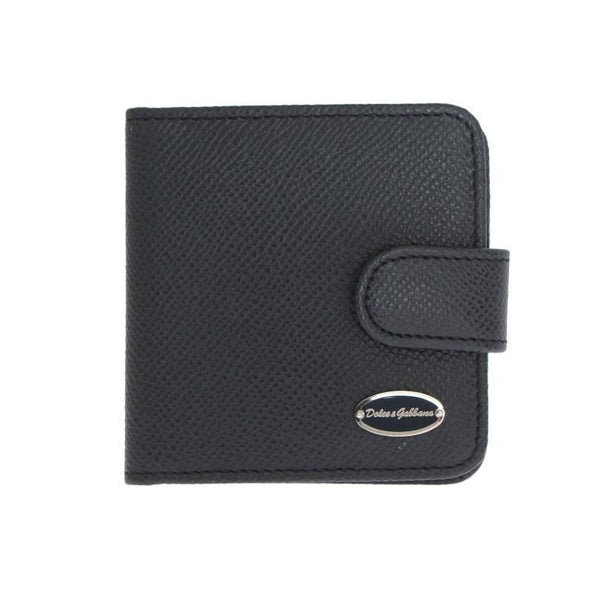 Blue Dauphine Leather Pocket Wallet