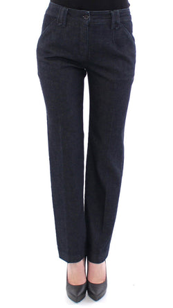 Blue Cotton Regular Fit Jeans Pants