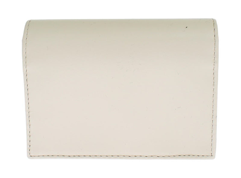White Leather Bifold Card Wallet