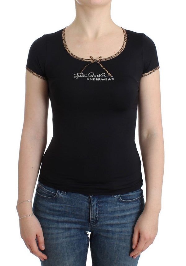 Black Nylon Top T-Shirt