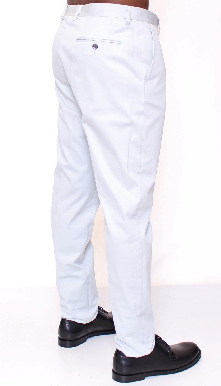 Light Blue Regular Fit Logo Dress Pants