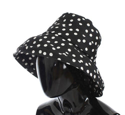 Black White Wide Brim Bucket Hat